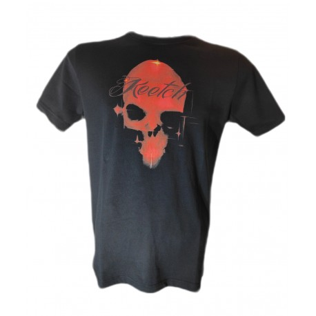 RED skull Black
